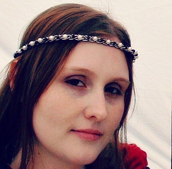 Celtic Boho Wedding Headband Circlet in Custom Colors