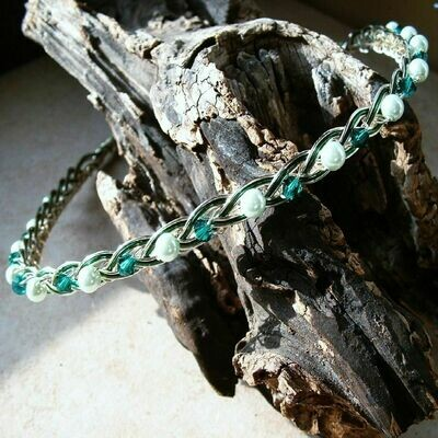 Irish Celtic Knot Emerald Wedding Headband