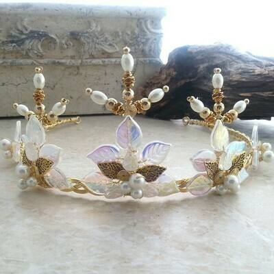 Gold or Silver Tiara for a Woodland Fairytale Wedding