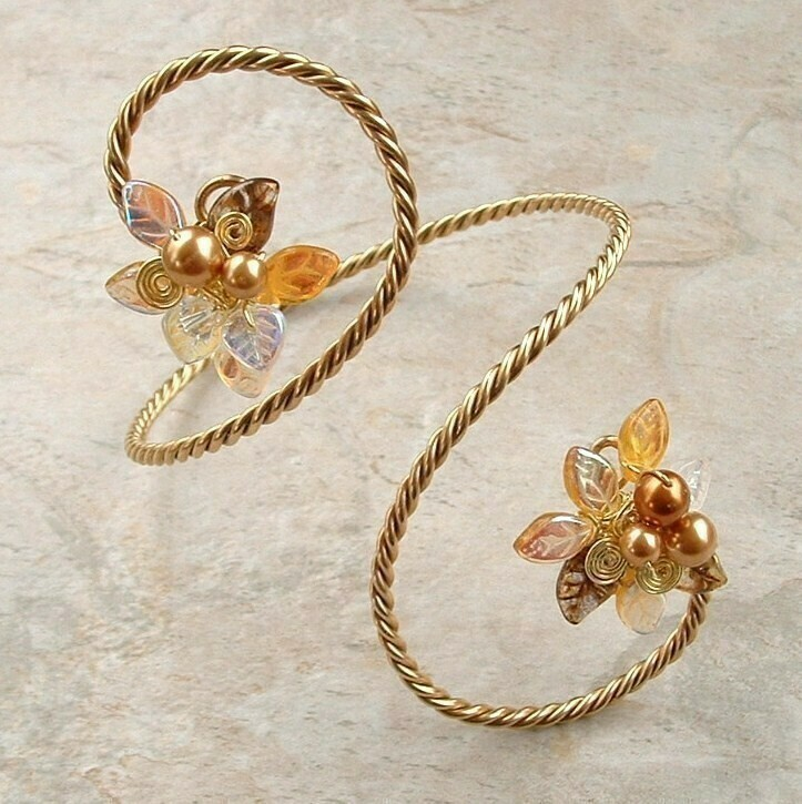 Midsummer Night Fairy Gold Bracelet Arm Cuff Arm Band