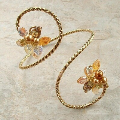 Midsummer Night Fairy Gold Bracelet Arm Cuff Arm Band