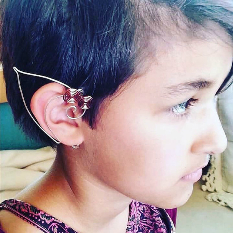 Celtic Spiral Elf Ear Cuffs Unisex Elf Ears