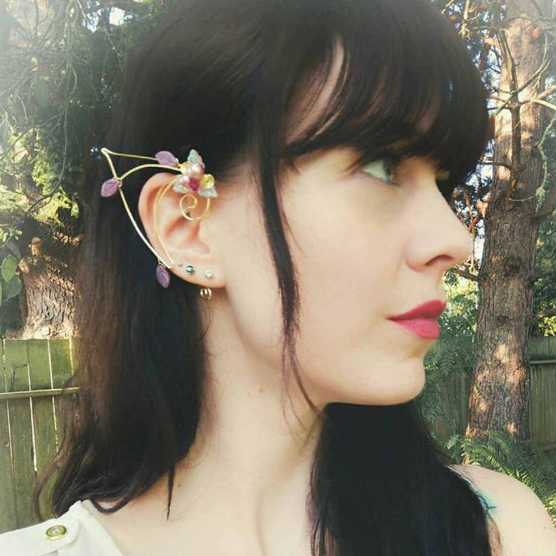 Pink Elf Ears Ear Cuff Wrap Princess Nadia