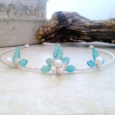 Aqua Blue Princess Tiara Circlet Crown