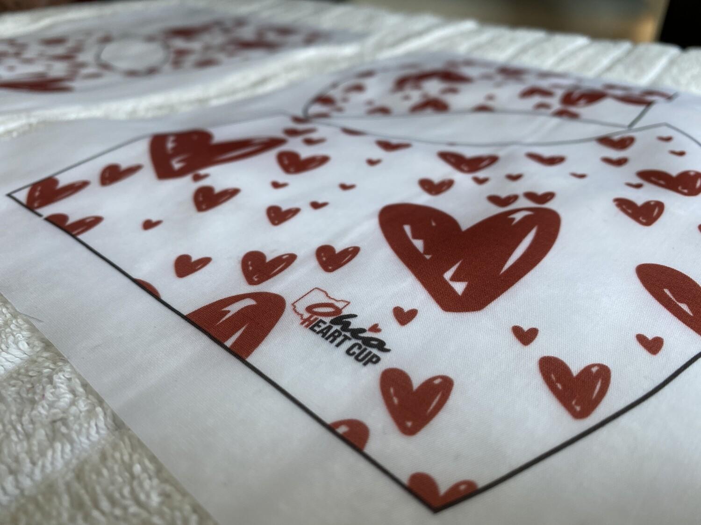 Double Layered Ohio Heart Cloth Mask