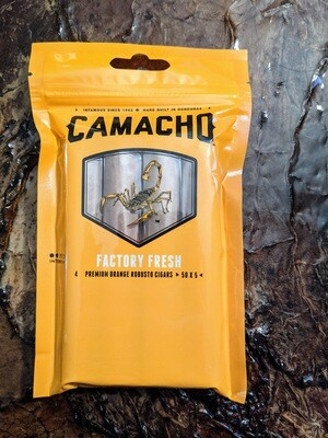 Camacho Factory Fresh Connecticut Robusto 4 Pack