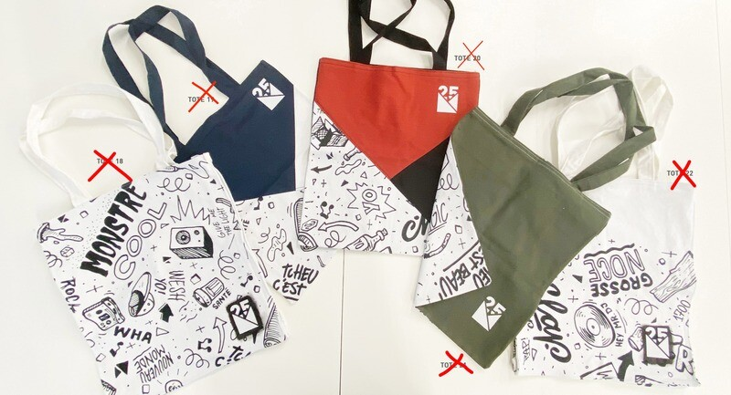 TOTE BAGS 4 - Limited Edition - NM 25