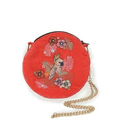 Velvet Embroidered Bag