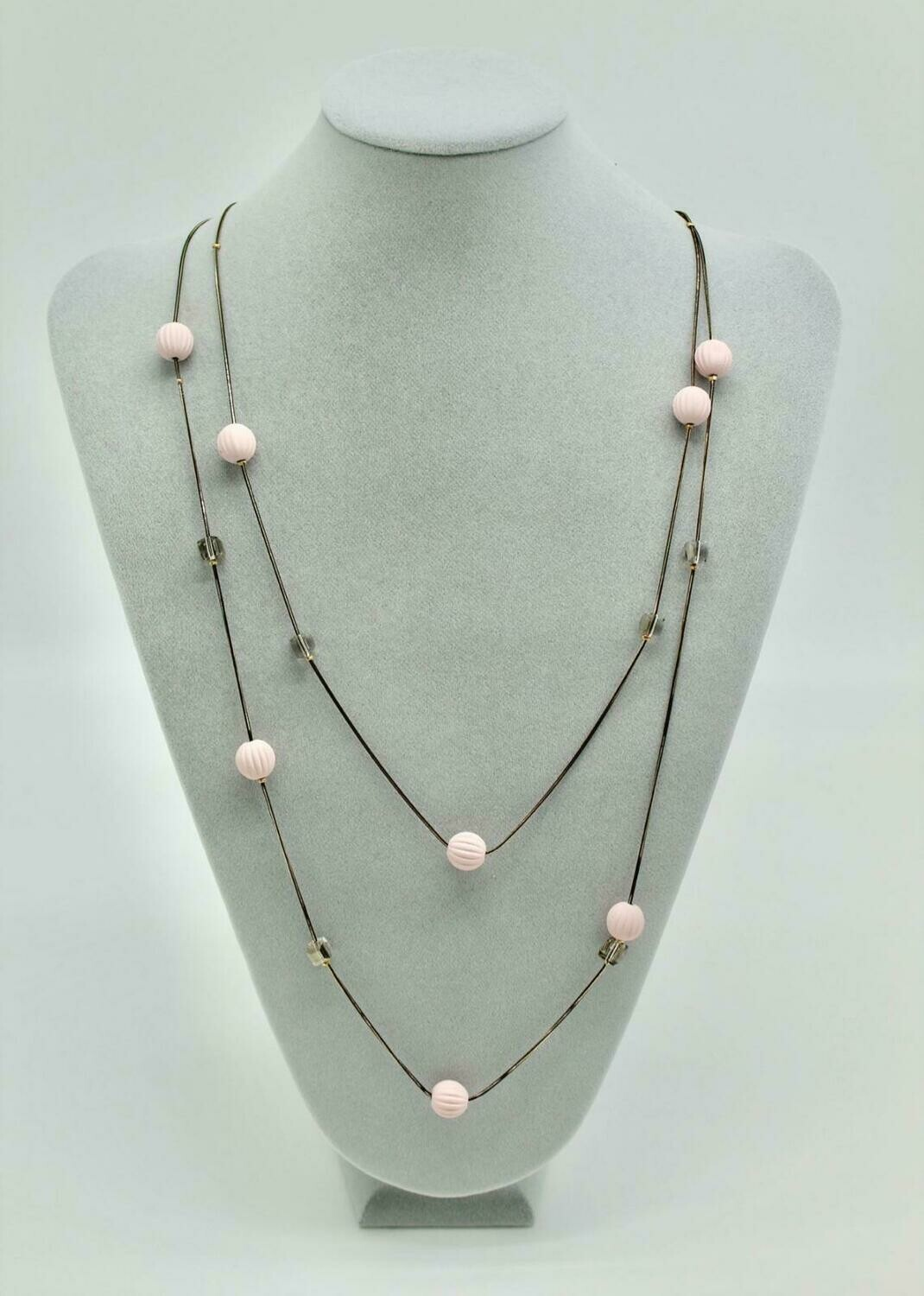 Pink Candy Bead Necklace