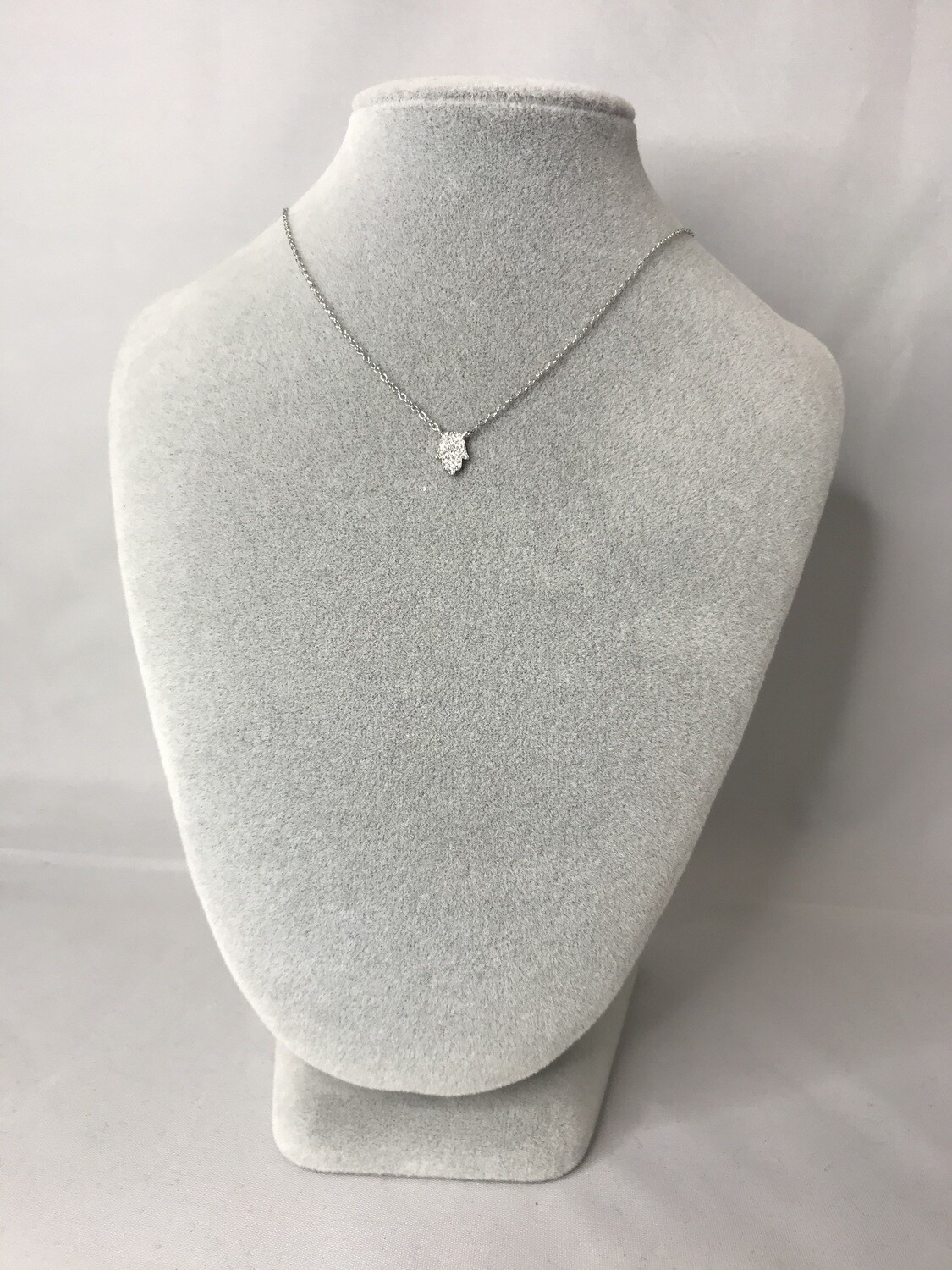 Silver Hand Necklace