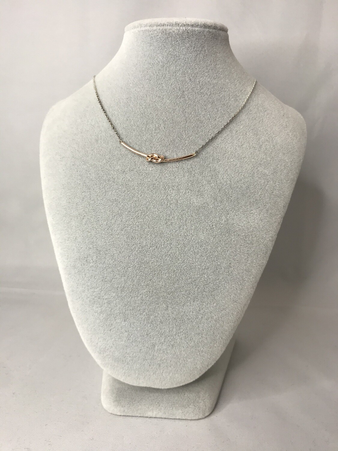 Rose Gold Knot Necklace