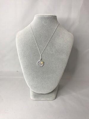 Silver & Gold Honeybee Necklace