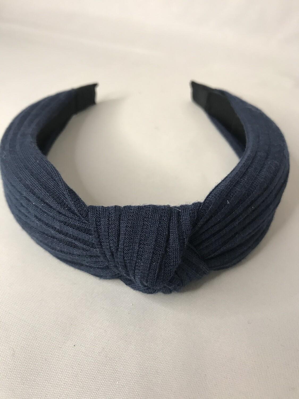 Navy Knot Headband