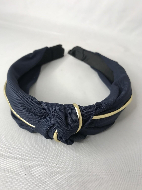 Navy & Gold Plait Headband