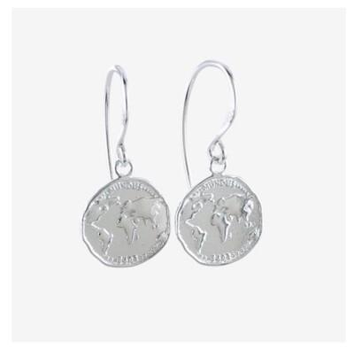 Coin World Earrings