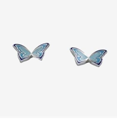 Enamel Butterfly Studs