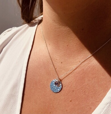 The Hammered circle Necklace