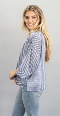 Chambray Stripe Kimono