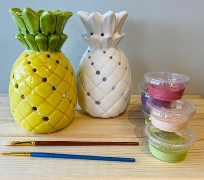 Take Home Pineapple Lantern with Glazes - Pick up Curbside