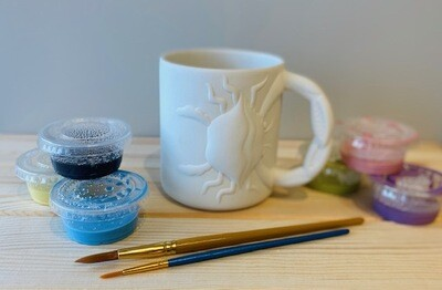 Take Home Maryland Crab Mug with Glazes - Pick up Curbside