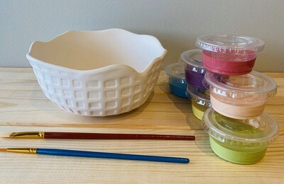 Take Home Ice Cream Waffle Bowl with Glazes - Pick up Curbside