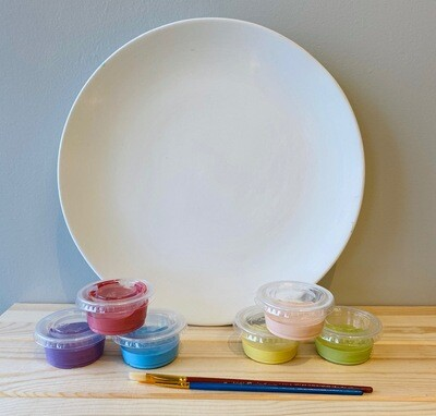 Take Home Coupe Dinner Plate with Glazes - Pick up Curbside