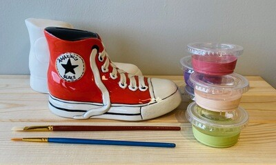 Take Home Converse Sneaker Bank with Glazes - Pick up Curbside