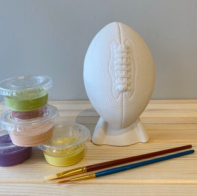 Take Home Football Bank with Glazes - Pick up Curbside