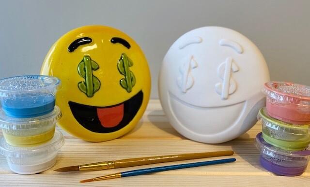 Take Home Emoji Bank with Glazes - Pick up Curbside