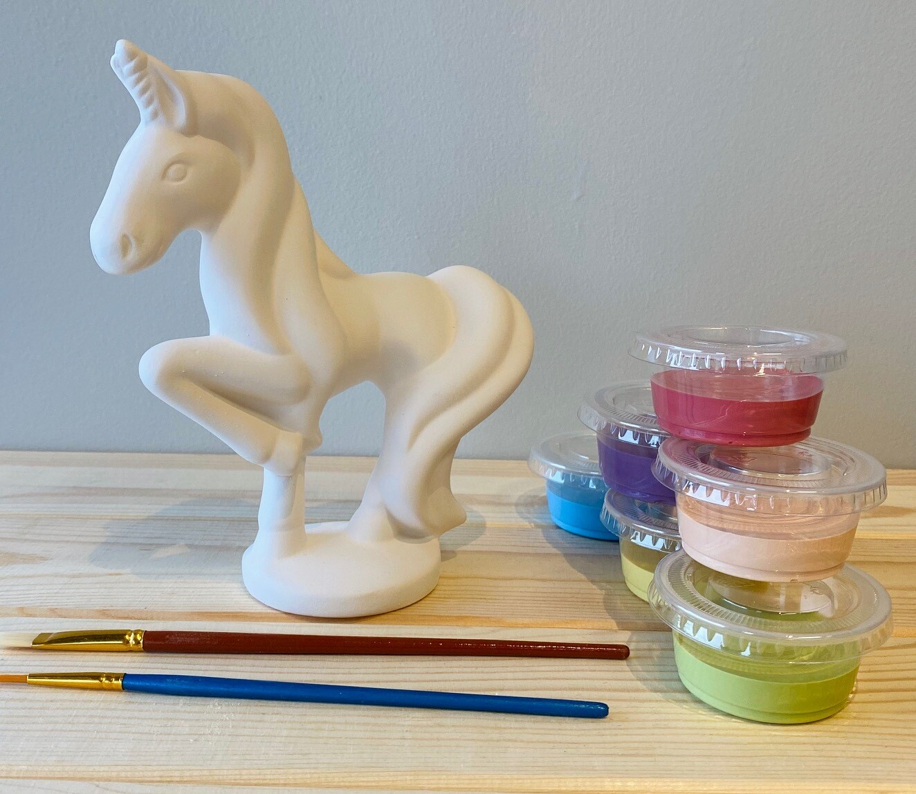 Take Home Standing Unicorn with Glazes - Pick up Curbside