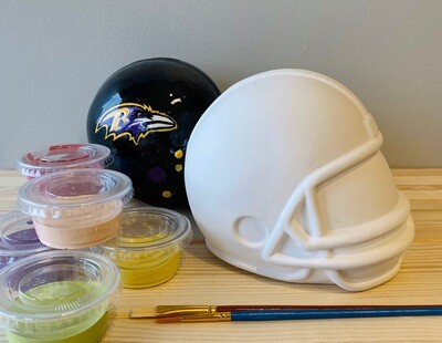 Take Home Helmet Bank with Glazes - Pick up Curbside