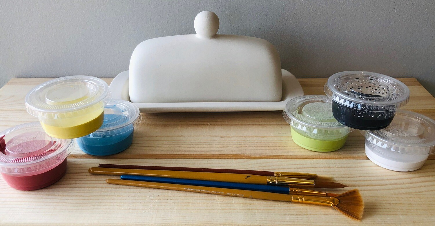 Take Home Butter Dish with glazes - Pick up Curbside