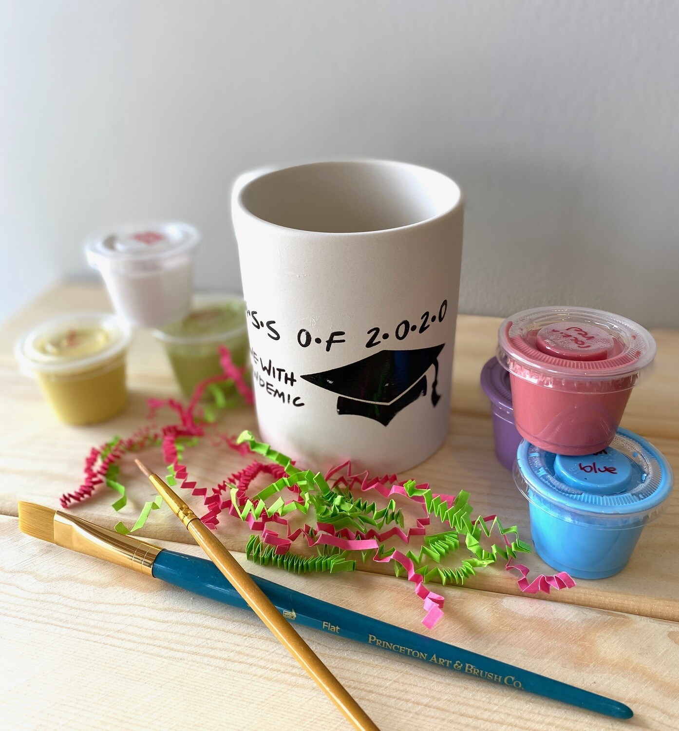 Take Home Coloring Book 10 oz Class of 2020 Friends Mug with Glazes - Pick up Curbside