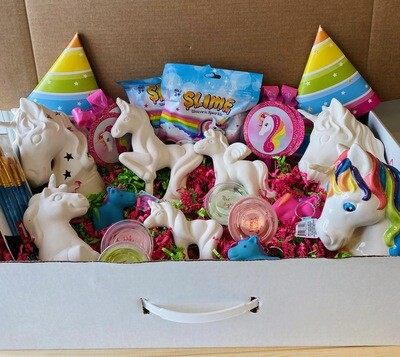 Take Home Unicorn Birthday Party Kit - Pick up Curbside or Delivery