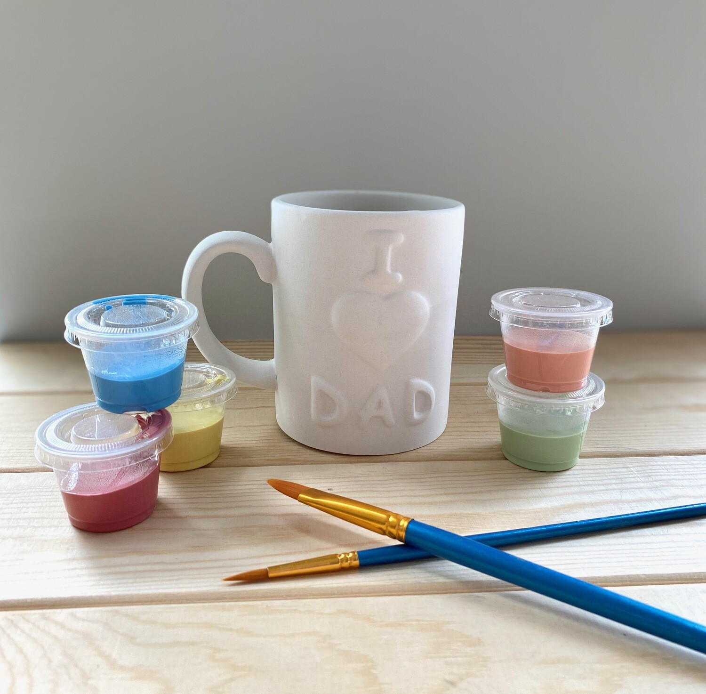 Take Home I Love Dad Mug with glazes - Pick up Curbside