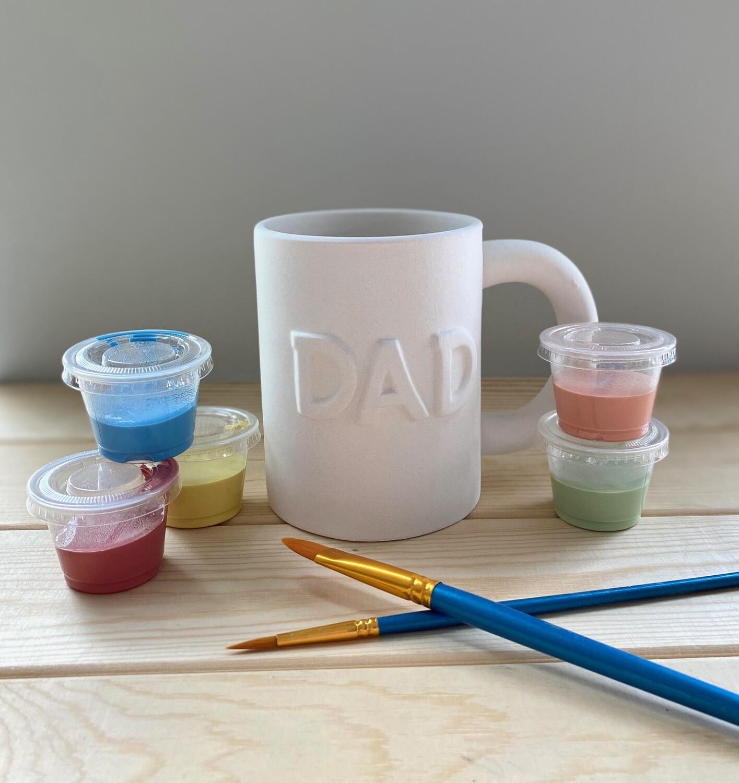 Take Home Dad Mug with Glazes - Pick up Curbside