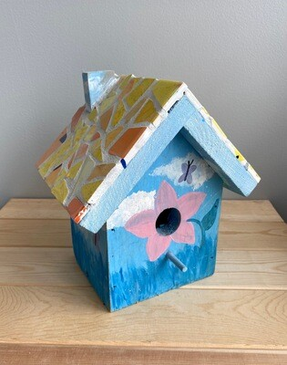 Mosaic Wooden Bird House - Sample Sale