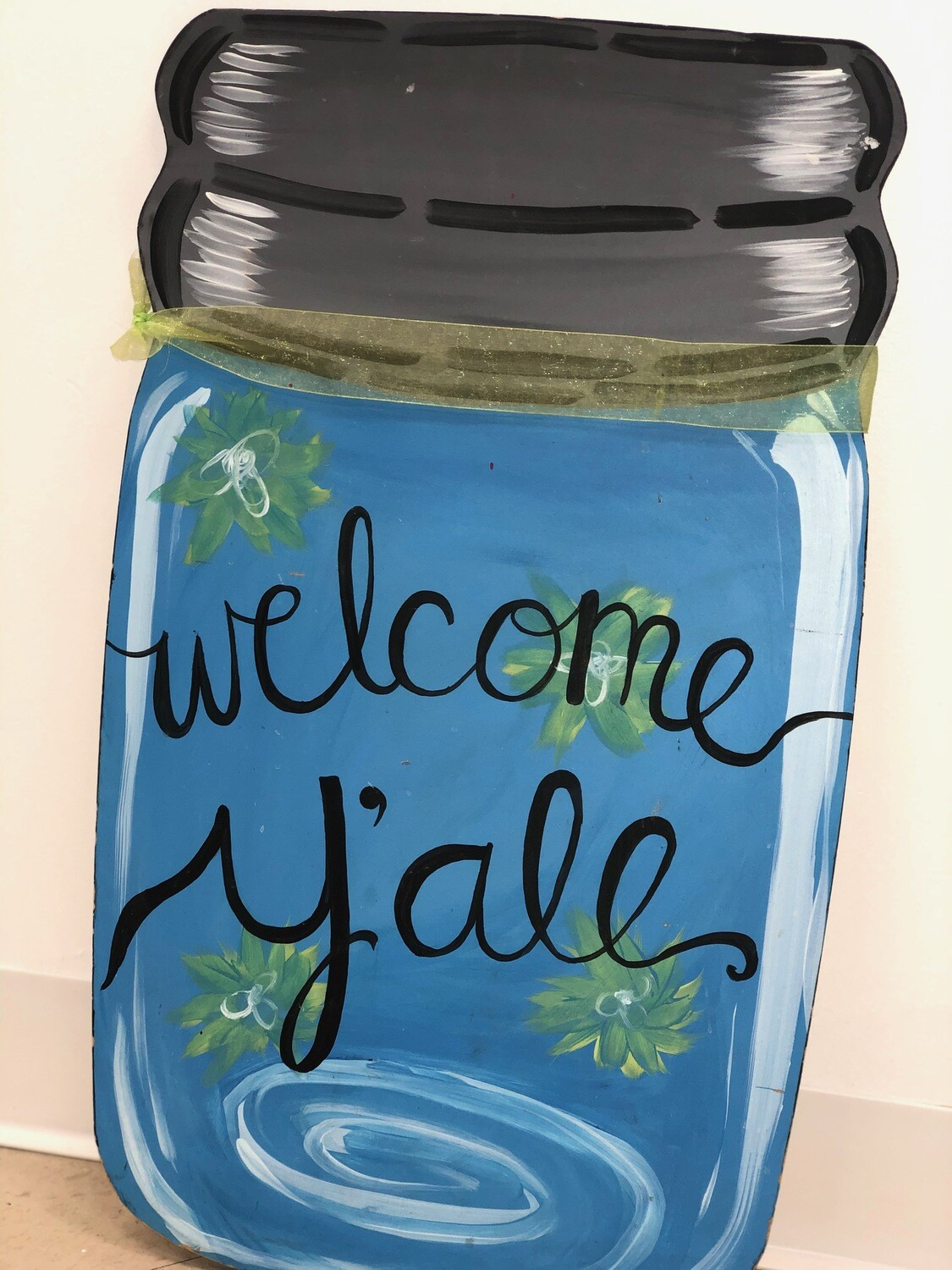 Paint Your Own Mason Jar Door Hanger - Pick up Curbside