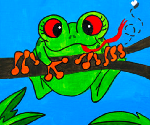 Camp in a Bag! Tree Frog Canvas  - Pick up Curbside