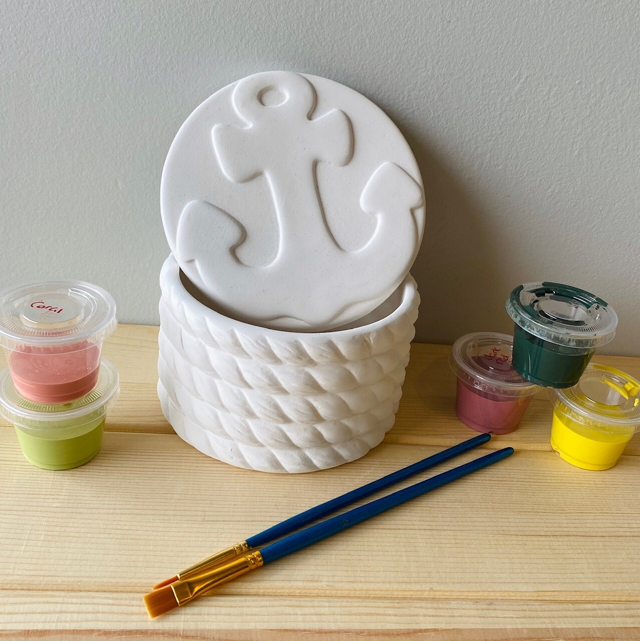 Take Home Ceramic Anchor Box with Glazes - Pick up Curbside