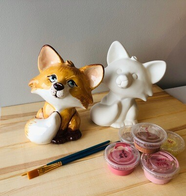 Take Home Fox Bank with Glazes - Pick up Curbside