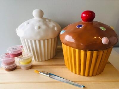 Take Home Cupcake Cookie Jar - Pick up Curbside