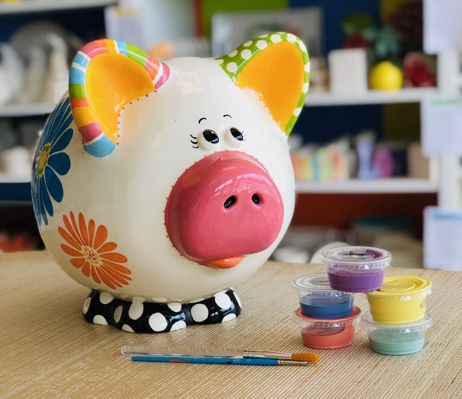 Take Home Piggus Maximus Giant Piggy Bank with Glazes - Pick up Curbside