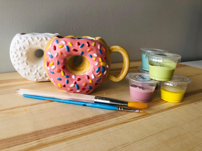 Take Home Donut Mug with Glazes - Pick up Curbside
