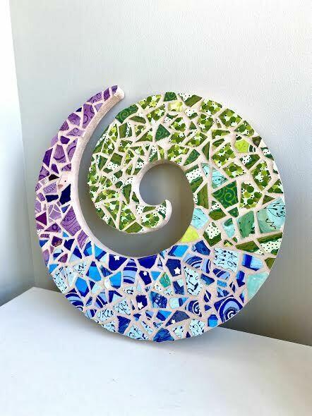 Mosaic swirl wall plaque- Sample sale