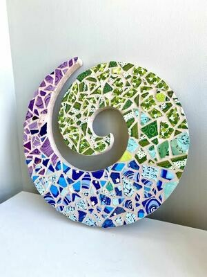 Mosaic swirl wall plaque- Sample sale