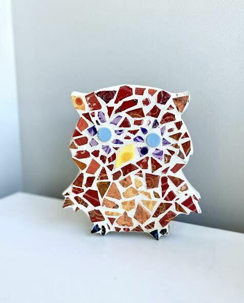 Mosaic owl wall hanger- Sample sale