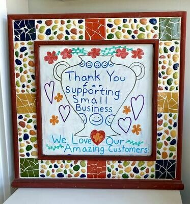 Mosaic dry erase board- Sample Sale