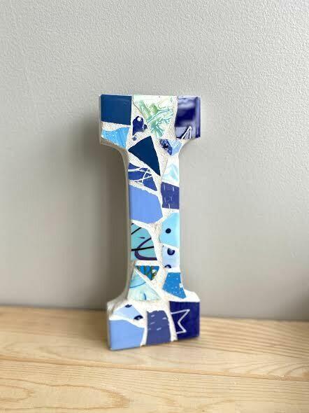 "Mosaic 9"" letter I wall hanger- Sample Sale"
