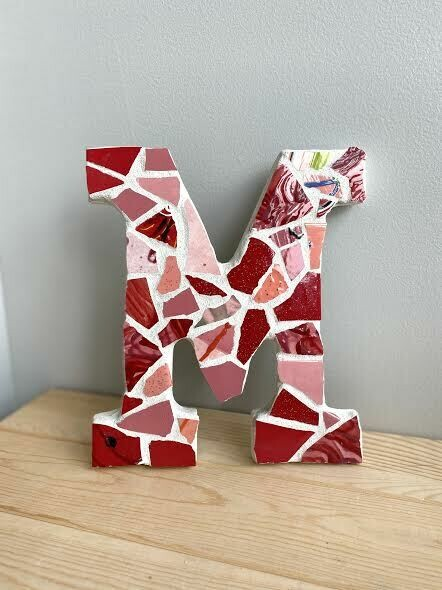 "Mosaic 9"" letter M wall hanger-Sample Sale"